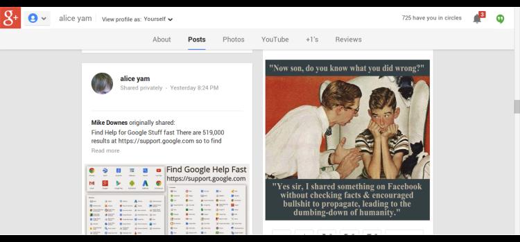 My Google +